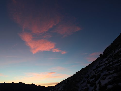 Sunrise in Carezza Dolomites