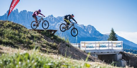 Bikepark Carezza unterm Latemar