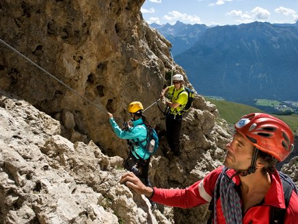 Discover the via ferrata in Val d'Ega with an alpine guide