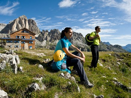 Refuges near via ferrata in the Eggental
