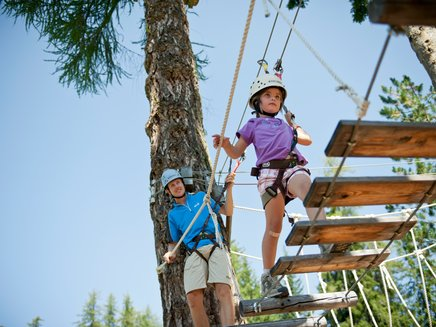 Parcour for kidds in the adventure park