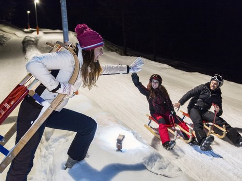 Sledding by night on the Epircher Laner slope - Obereggen | © Obereggen AG