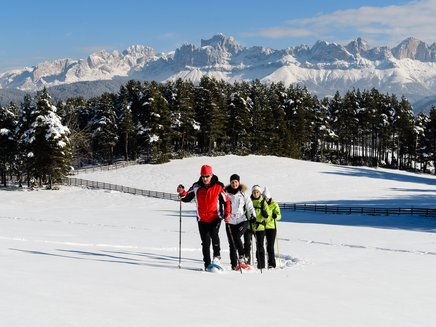 Guided snowshoe-hike under the Catinaccio