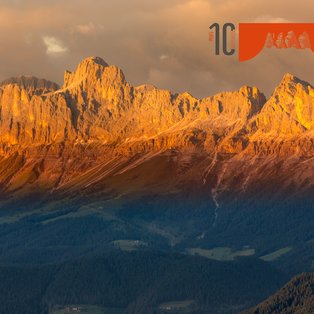 Alpine glowing Catinaccio group