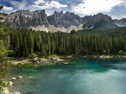 Lake Carezza under the Latemar - Val d'Ega